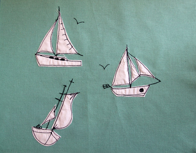 Breezy boats embroidery