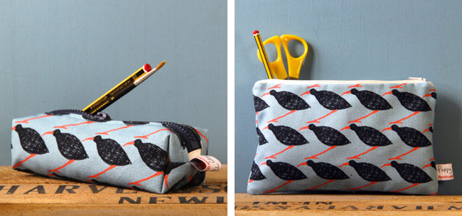 Cornish Chough pencil case and big useful purse