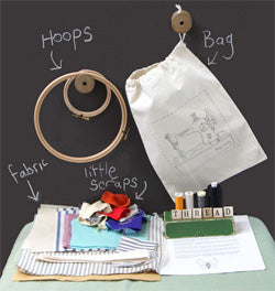Freehand embroidery kit by Poppy Treffry