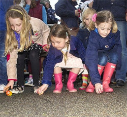 Padstow egg rolling