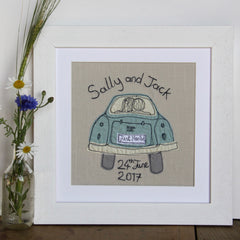 embroidered personalised wedding picture