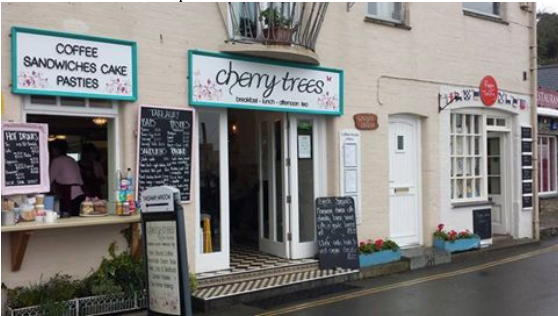 cherry trees cafe in padstow
