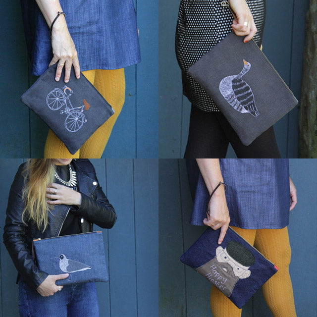 Sketchbook Clutch bags