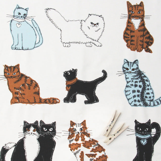 Top Cats tea towel detail