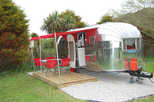 Coastal vallery campers campsites in cornwall vintage airstream