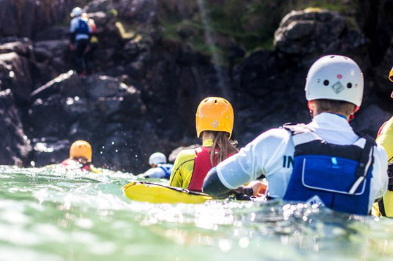 coasteering in cornwall with st ives surf school