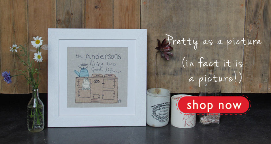 cosy home personalised picture by poppy treffry