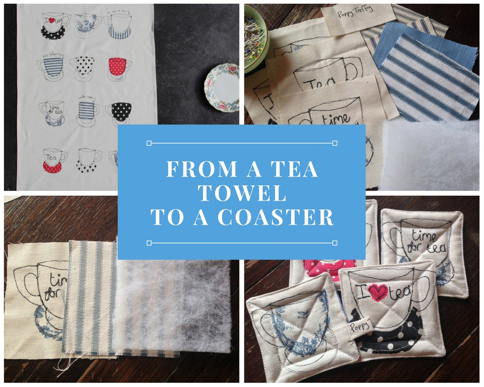 from a tea towel to a coaster