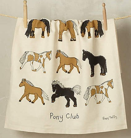 Pony Club tea towel by Poppy Treffry
