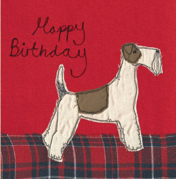 sale - fox terrier card (was £2.50)