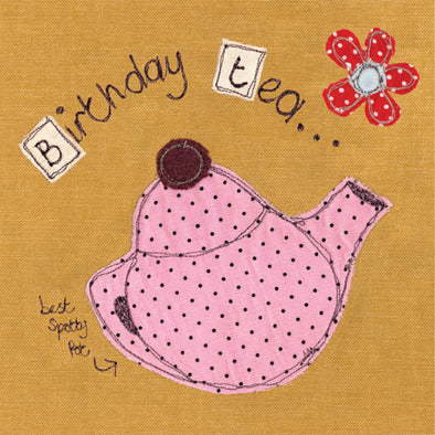 SALE - birthday tea card (was £2.50)