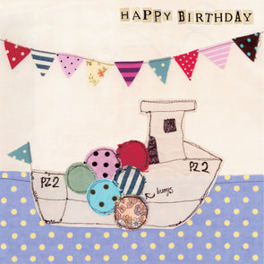 3970 - fishing boat birthday card