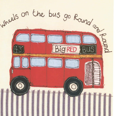 SALE - wheels on the bus card (was £2.50)