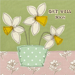 SALE - daffodil get well soon card (was £2.50)