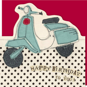 SALE - scooter die-cut card (was £2.25)