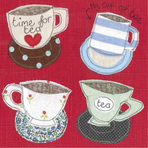 4362 - four teacups card