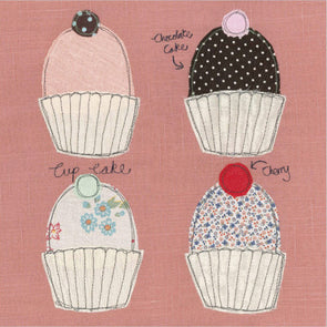 SALE - four cupcakes card (was £2.25)