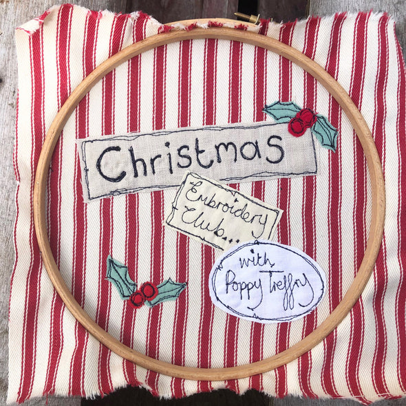 Christmas Embroidery Club - subscription closed