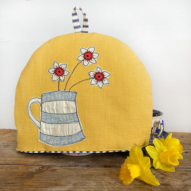 Cornish narcissi small tea cosy
