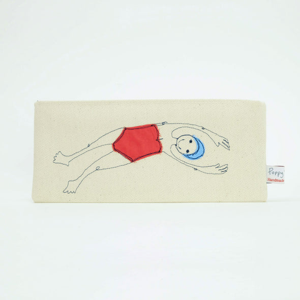 Bather - embroidered pouch
