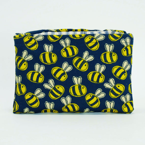 bee print foldaway shopping bag tote