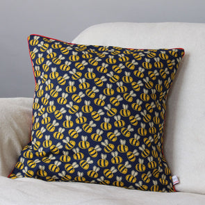 bee cushion with piping