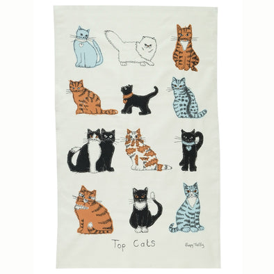 top cats - tea towel