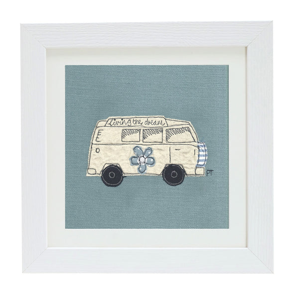 Campervan - personalised picture (blue)