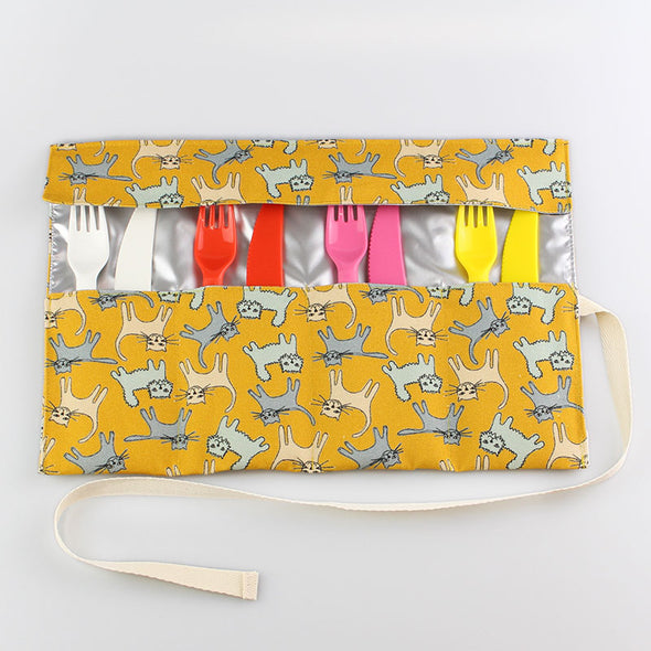 open cat cutlery roll
