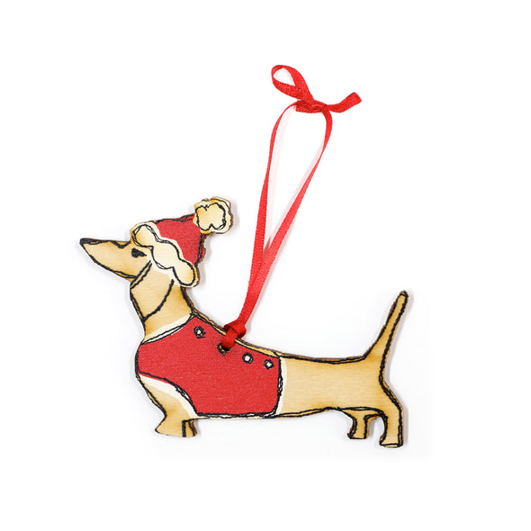 Christmas dachshund - dingly dangly decoration
