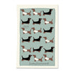 sausage dog tea towel