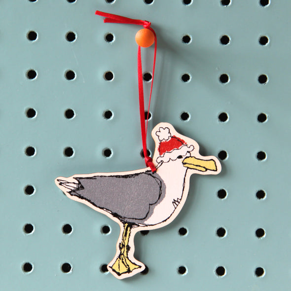 Christmas seagull - dingly dangly decoration