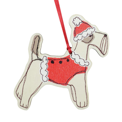 Christmas fox terrier - dingly dangly decoration