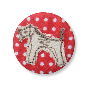 fox terrier - pretty badge