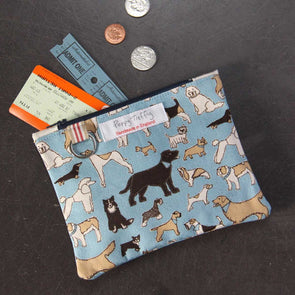 four legged friends - flat purse with keyring