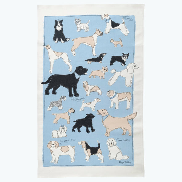 four legged friends - tea towel