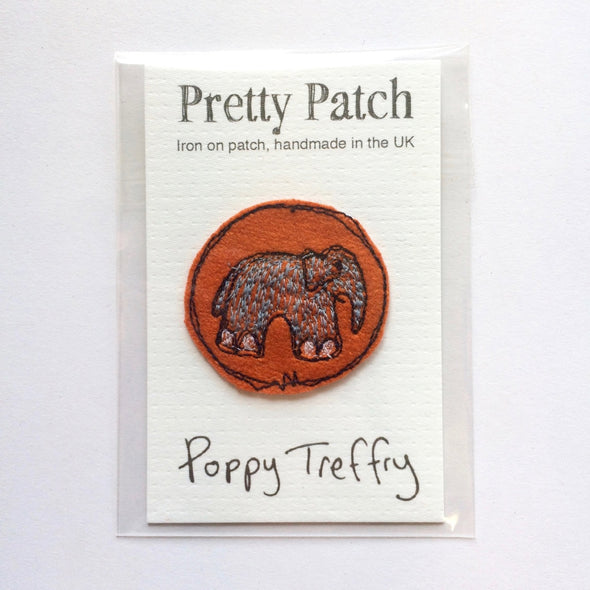 elephant - iron on patch