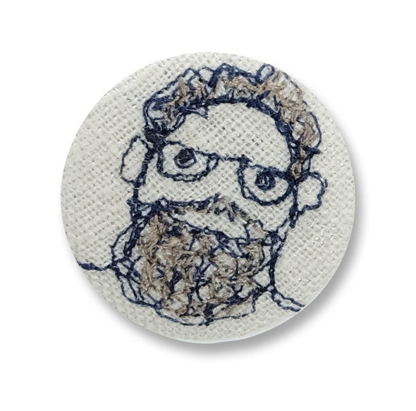 beardy man - pretty badge