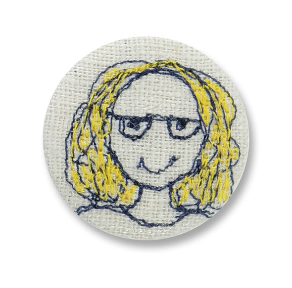 blonde girl - pretty badge