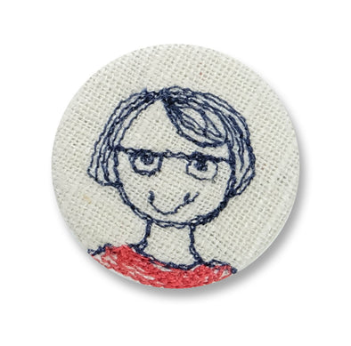 black bob girl - pretty badge