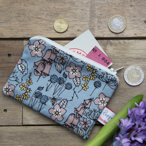 Wild flowers - small useful purse