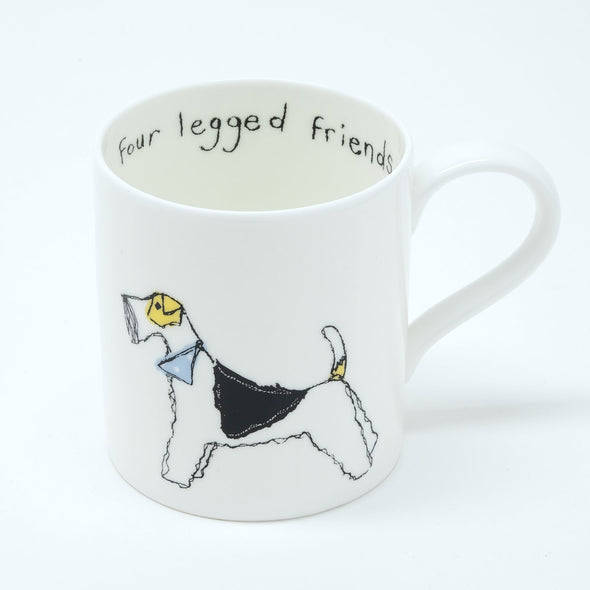 fox terrier and dachshund - bone china mug