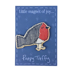 jolly robin - wooden magnet