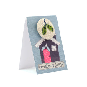 Christmas mistletoe - pretty badge