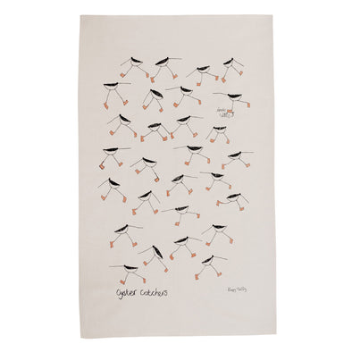 oyster catcher tea towel