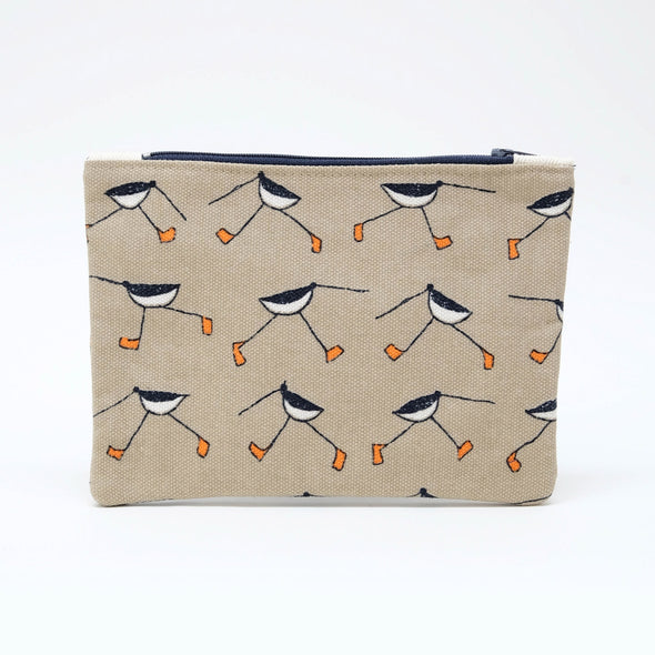 oystercatcher - flat purse with keyring