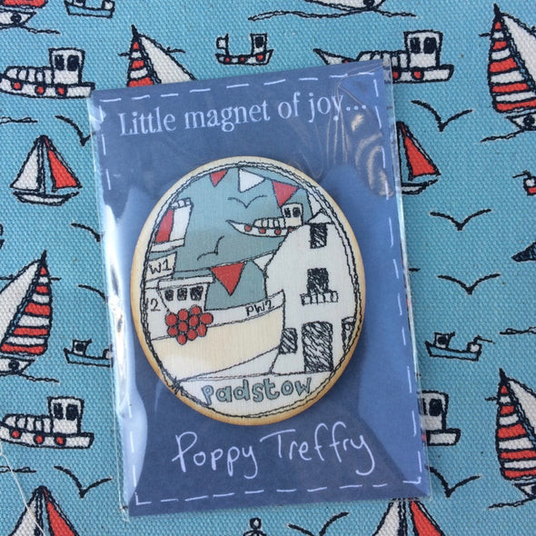 Padstow - wooden magnet