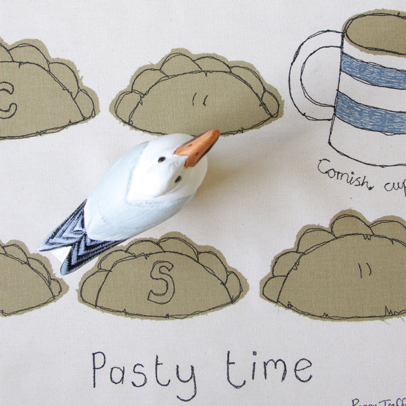 pasty time - tea towel