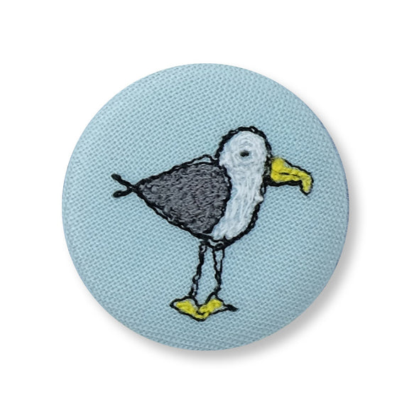 cheeky seagull - pretty badge
