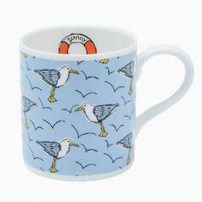 seagulls - bone china mug